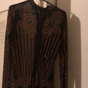 Size large stone women's jump suit worn once
